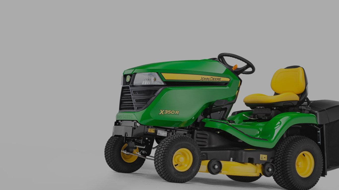 X350R, traktorki koszące, maszyny samojezdne do pielęgnacji trawników, seria X300, selektor produktów